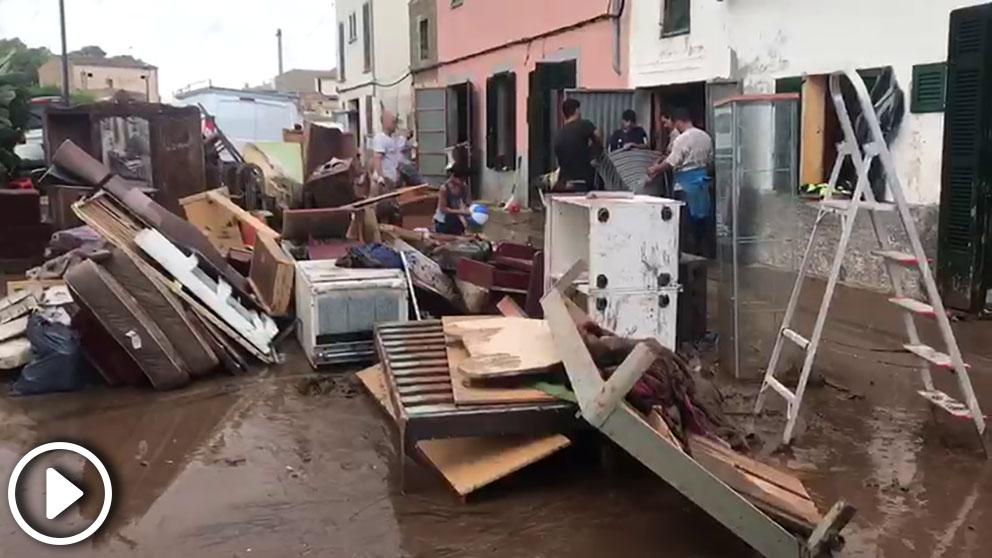 Sant Llorenç des Cardassar tras la riada.