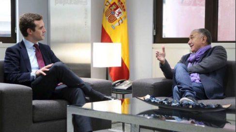 Pablo Casado con Pepe Álvarez (RRSS).