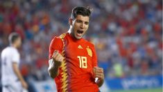 Rafa Mir celebra un gol.