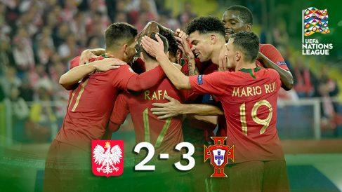 Liga de las Naciones 2018: Polonia – Portugal |  Partido de fútbol hoy, en directo.