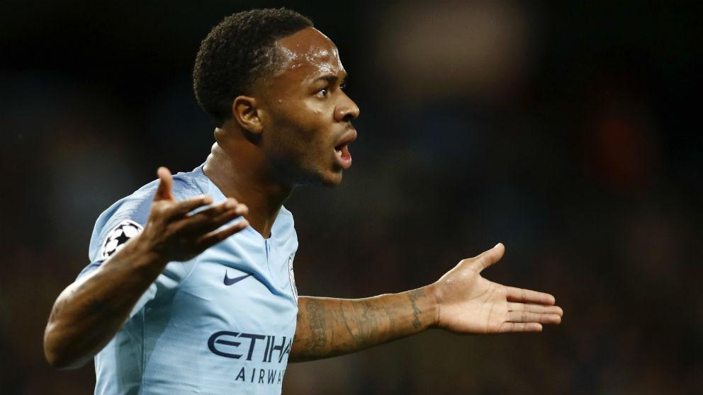 Sterling, en un partido con el Manchester City. (Getty)