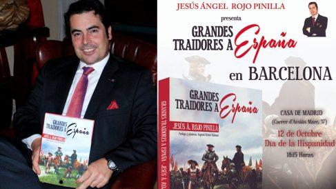 Jesús Á. Rojo presenta 'Grandes traidores a España' en Barcelona.