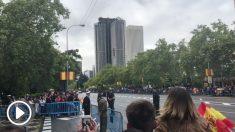 Pedro Sánchez ha recibido abucheos e insultos durante toda la celebración del desfile del 12 de octubre