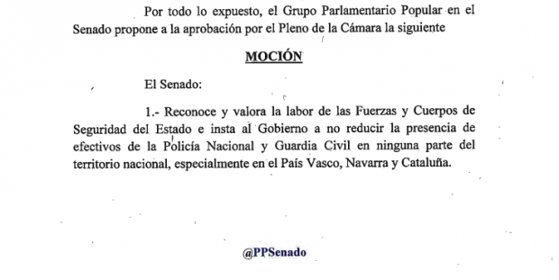 El Gobierno no garantiza que la Policía y la Guardia Civil sigan en Cataluña y País Vasco
