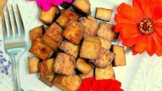 Receta de Chips de tofu al horno veganos fáciles de preparar