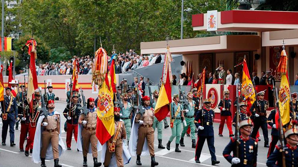 Un momento del desfile militar en la Fiesta Nacional del 12 de octubre. Foto: EFE