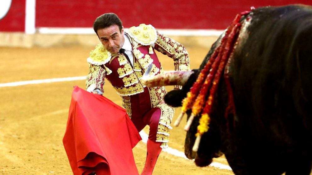 Enrique Ponce durante una faena (Foto: EFE).