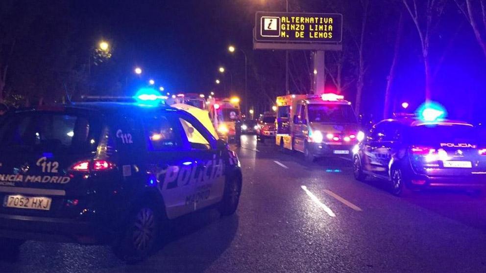 Accidente en Madrid (@InfoEmergencias)