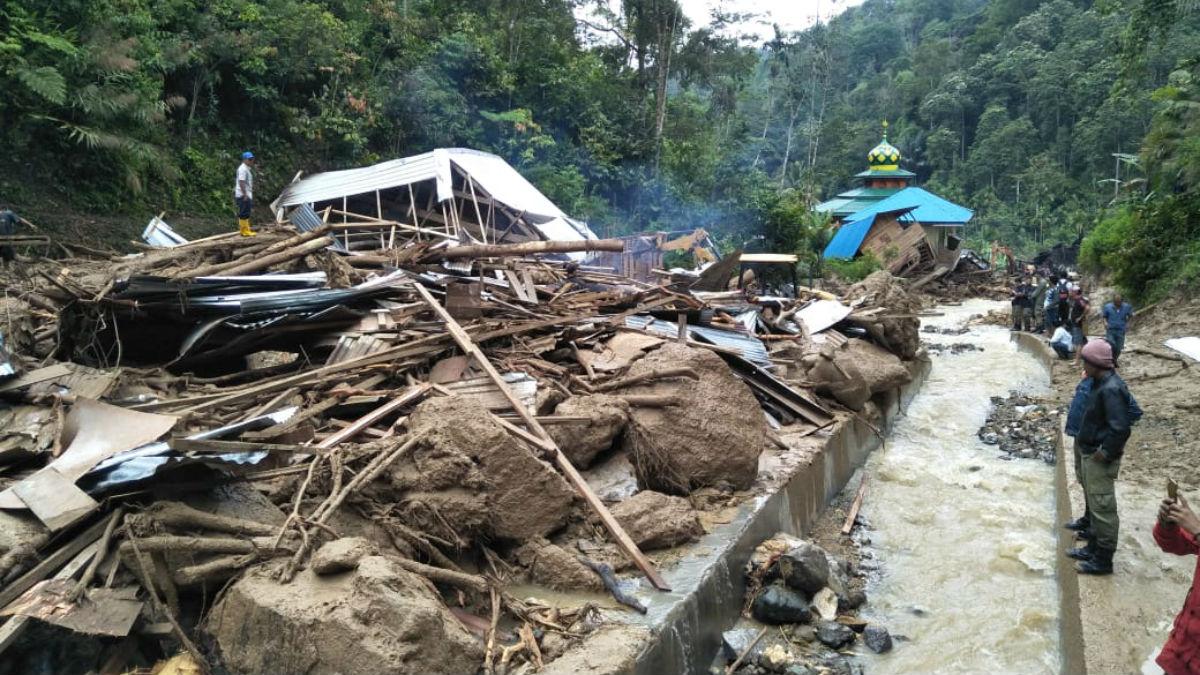 Inundaciones en Indonesia (AFP).