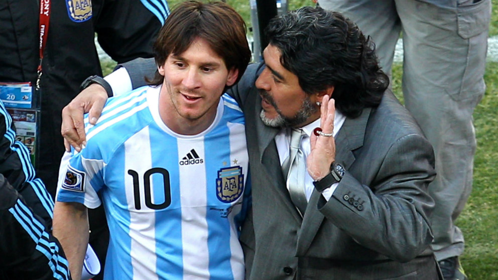 Maradona critico duramente a Messi en una entrevista en México. (Getty)