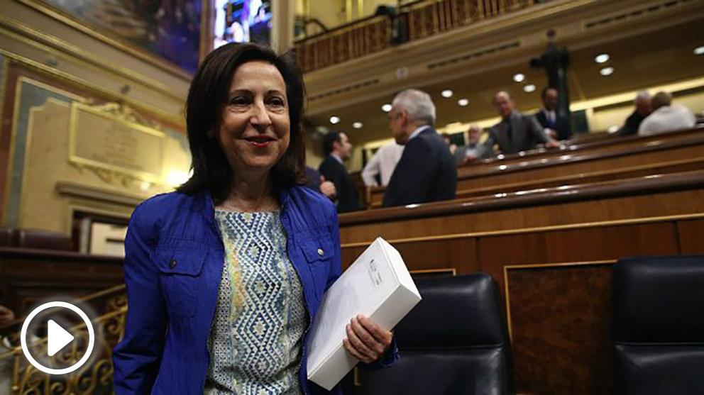 La ministra de Defensa y exportavoz del PSOE en el Congreso, Margarita Robles.