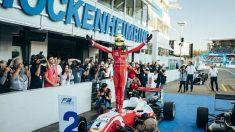 Mick Schumacher celebra su victoria. (@THEODORERACING1)