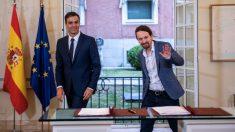 Pedro Sánchez y Pablo Iglesias. (Foto. Podemos)