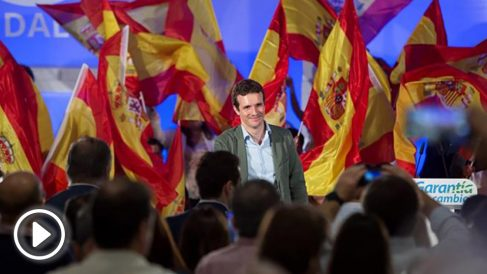 Casado con el PP andaluz en Málaga (EFE)