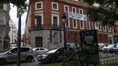 Edificio histórico en el Paseo del Prado okupado como 'La Ingobernable'. (Foto. OKDIARIO)