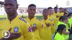 Vinicius y Rodrygo, con la sub-20 de Brasil. (Real Madrid TV)