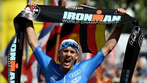 Lange, ganador del Ironman de Hawái. (Getty)