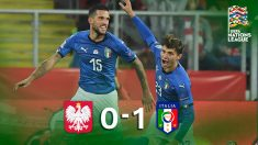 Italia venció a Polonia gracias a un gol en el minuto 92.