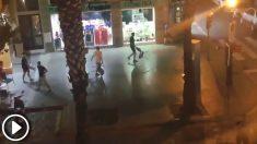 Los hooligans ingleses provocaron incidentes en Sevilla.
