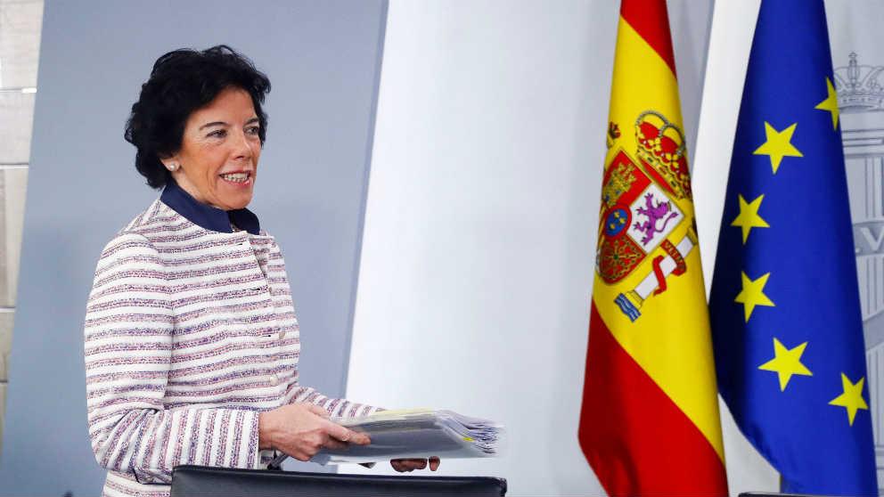 La portavoz del Gobierno, Isabel Celáa este lunes en el Palacio de la Moncloa