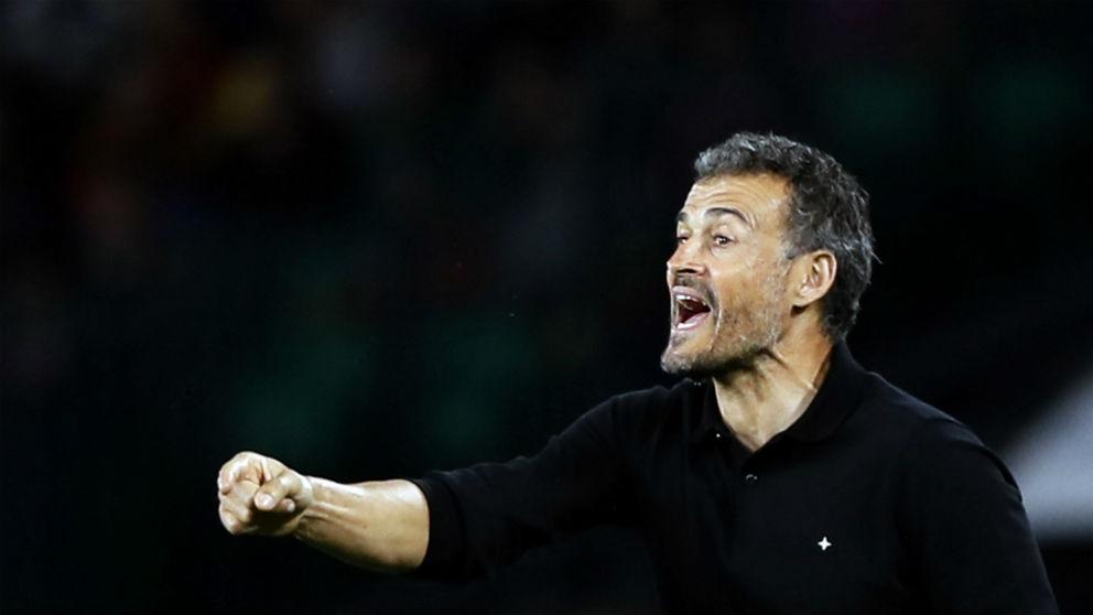 Luis Enrique, durante un partido de España. (EFE)