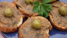 Receta de paté de berenjenas y aceitunas negras fácil de preparar