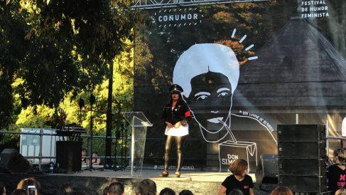 Una de las actuaciones del Coñumor, el festival de humor feminsita. (Foto. Madrid)