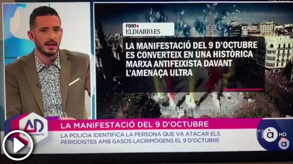 """El presentador de 'À punt directe', Juan Nieto, afirma que Cristina Seguí """"es un experta en fomentar la violencia y el odio"""""""
