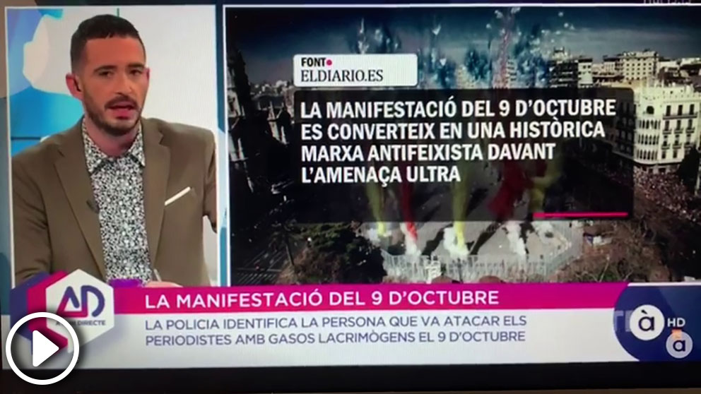 El presentador de 'À punt directe', Juan Nieto, afirma que Cristina Seguí «es un experta en fomentar la violencia y el odio»