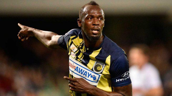 Bolt celebra uno de sus goles con su actual equipo.