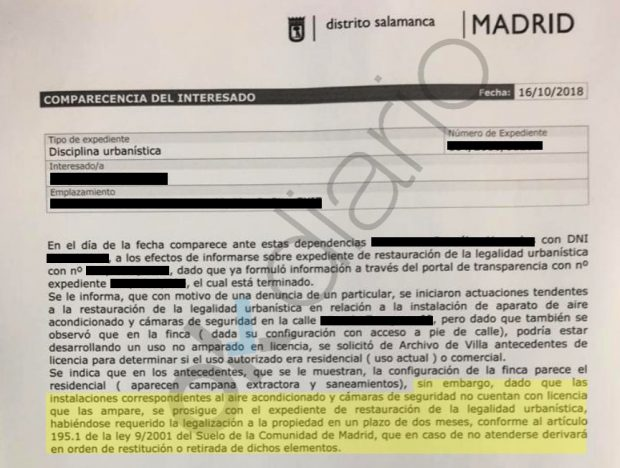El Ayuntamiento de Carmena expedienta a Echenique por obras ilegales en su piso en el barrio más caro