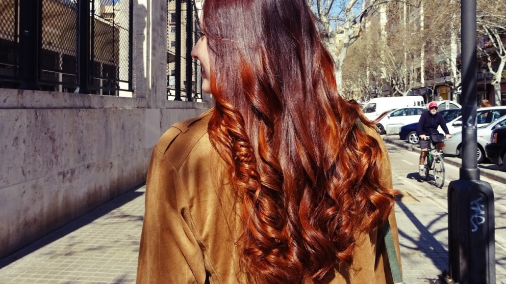 La henna queda espectacular en el pelo, además de en la piel