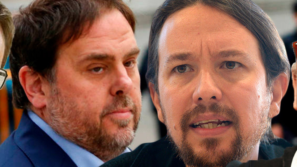 Oriol Junqueras y Pablo Iglesias.