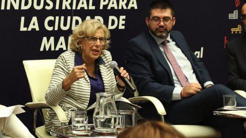Manuela Carmena y Carlos Sánchez Mato. (Foto. Madrid)