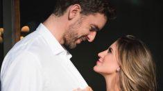 Pau Gasol y su prometida.