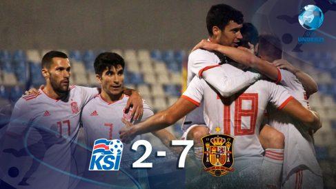 España goleó a Islandia en el último partido de la fase de clasificación para la Eurocopa.