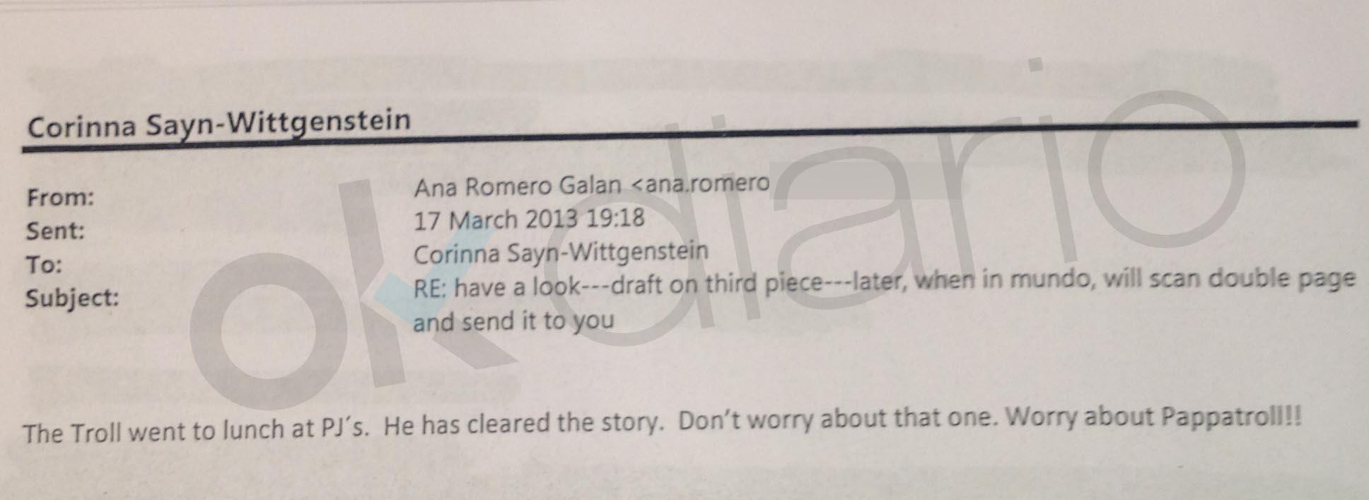 Los emails de una periodista a Corinna revelan que el director del CNI no dijo la verdad en el Congreso