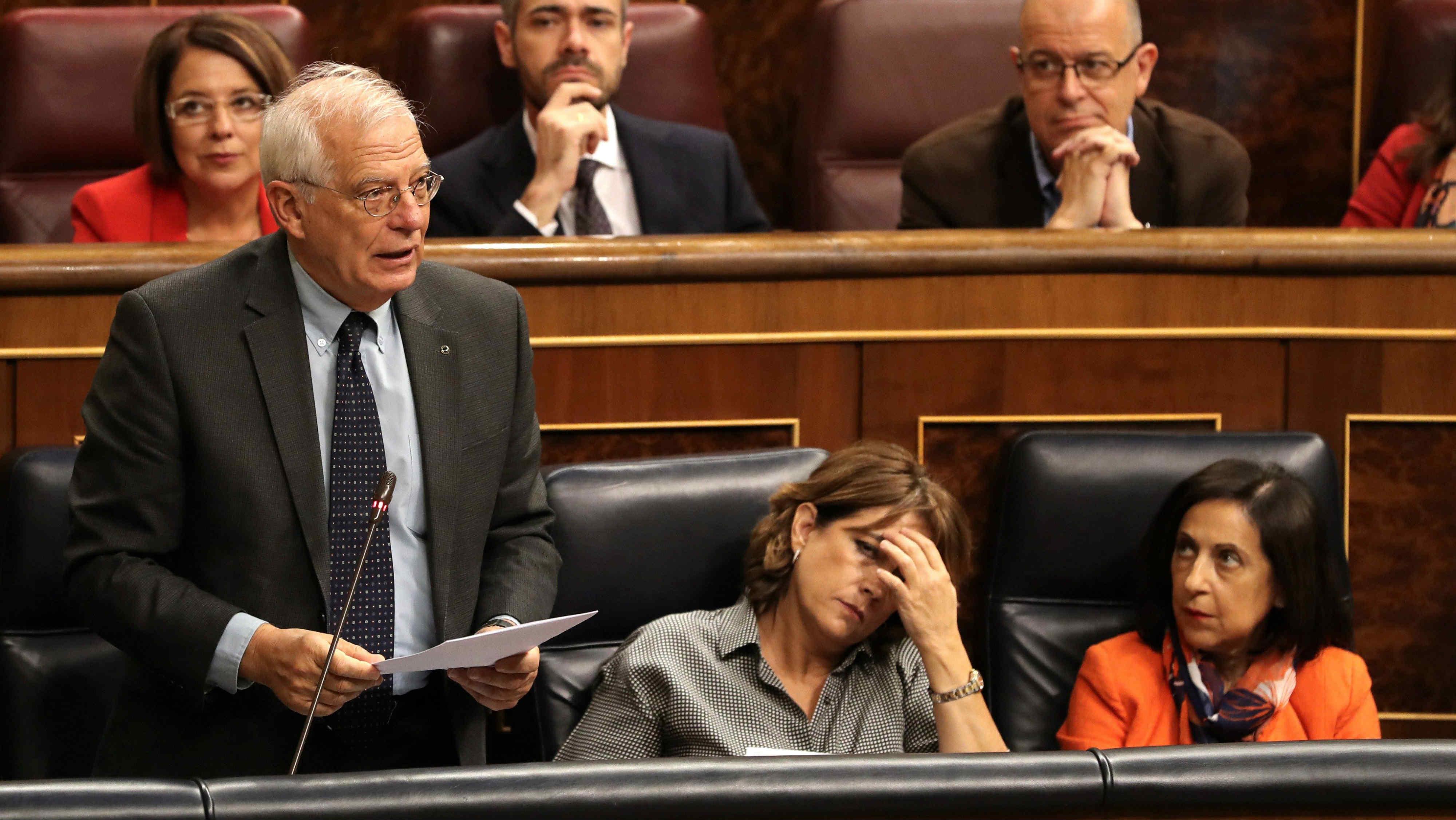 Josep Borrell durante su intervención en el Congreso. (EFE)