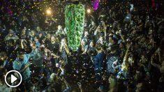 Un grupo de canadienses celebra la legalización de la marihuana. Foto: AFP