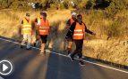Funcionarios de Jerez andan 600 km para afear a Sánchez los sueldazos del ayuntamiento socialista