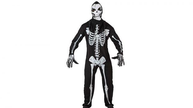 disfraz de esqueleto casero