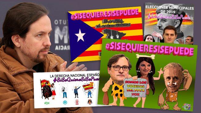Campaña de Podemos en las redes para identificar a Rivera, Casado e Inda con la ultraderecha y Franco