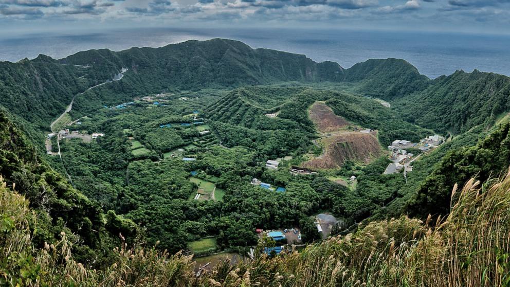 Viaja a la isla de Aogashima en Japón