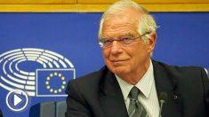 Josep Borrell, ministro de Exteriores, en el Parlamento Europeo. (TW)