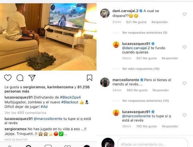 Los jugadores del Madrid vacilan a Lucas Vázquez por su vicio al Call of Duty