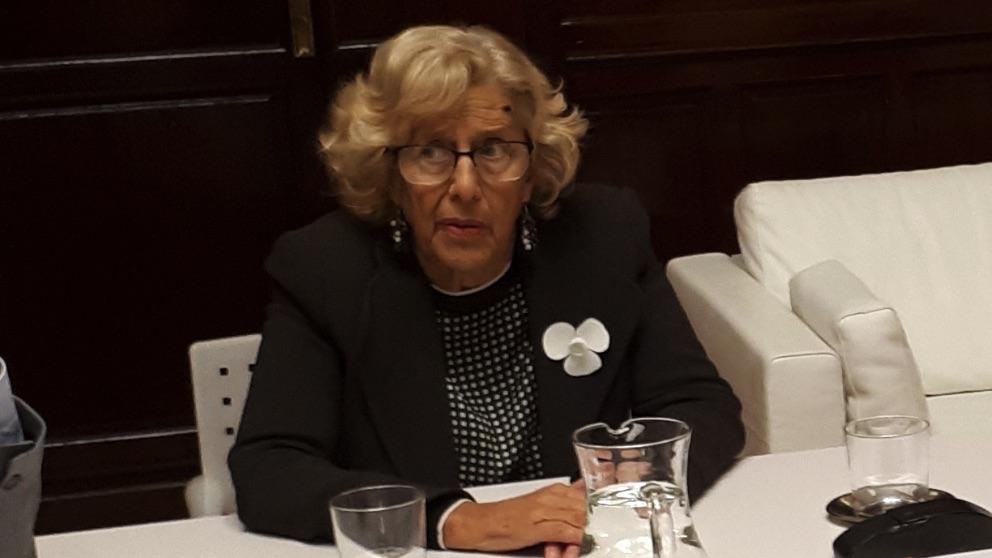 Manuela Carmena, en una reunión. (Foto. Madrid)