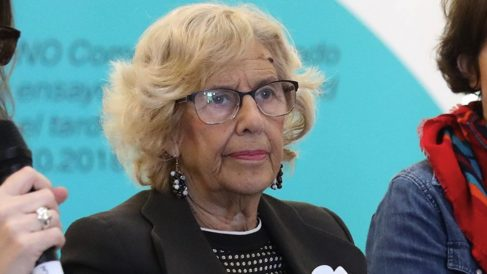 Manuela Carmena, en una rueda de prensa. (Foto. Madrid)