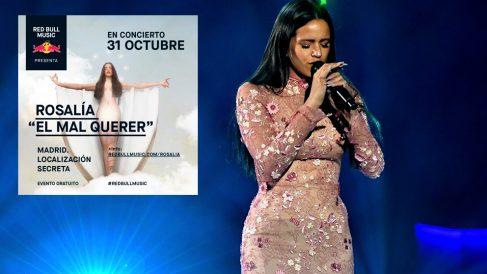 Rosalía presentará 'El Mal Querer' en Madrid con un concierto gratuito tres días antes de su lanzamiento. Foto: AFP