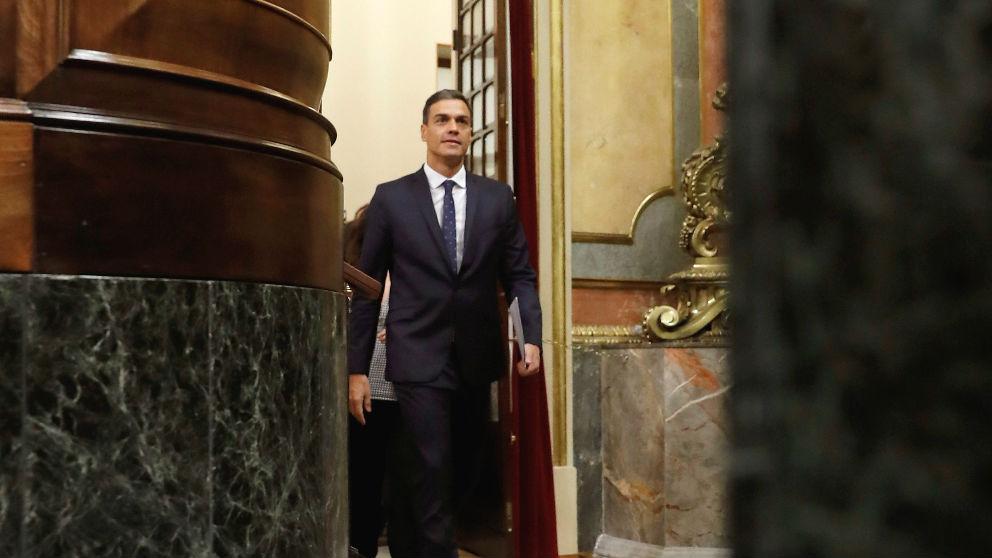 El presidente del Gobierno, Pedro Sánchez, en el Congreso. (Foto: Efe)