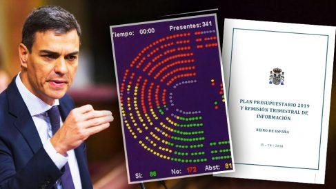 El jefe del Gobierno, Pedro Sánchez, silencia a las autoridades europea la realidad parlamentaria.